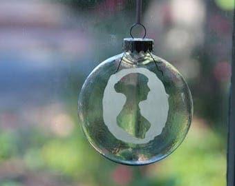 Jane Austen Glass Ornament