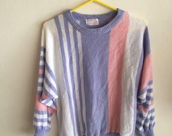 Vintage 80s pastel sweatshirt