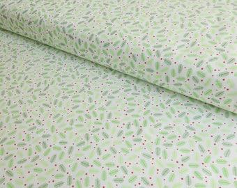 Christmas Fabric - Holiday Fabric - Christmas Quilting Cotton - Christmas Tree Fabric - Mistletoe Cotton Fabric - Green Christmas Fabric