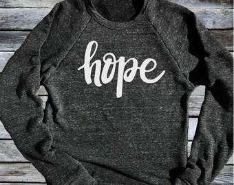 Unisex Crew Neck Sweatshirt Hope - Inspirational T shirt