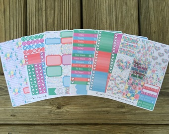Happy Roses // Weekly Planner Sticker Kit (170+ Stickers)