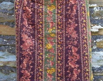 Vintage Floral and Fruit Laura Ashley Boho  Hippie Dress Skirt Size  S