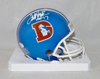 Terrell Davis Autographed Signed Denver Broncos Mini Helmet JSA