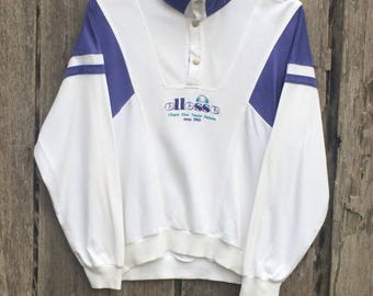 Rare ellesse italia  spell out big logo sweatshirt