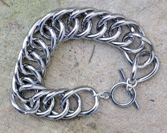 Stainless Steel Equestrian Curb Chain Bracelet
