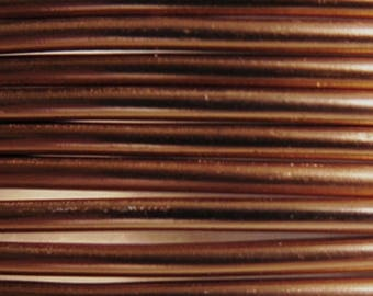Aluminum wire 3 mm chocolate - jewelry creations and floral designs - roller 4.15 m