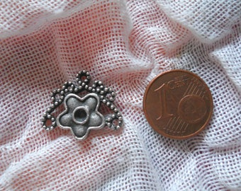 "Connector in antique silver x 1 ""flower"""