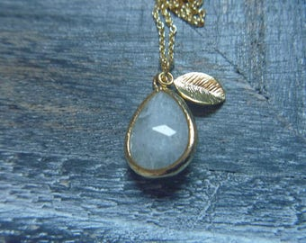 labradorite drop necklace