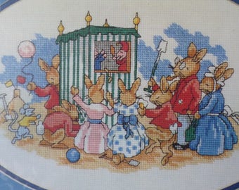Bunnykins, Punch and Judy Cross Stitch Kit by Myart K472 New and Unopened (089)