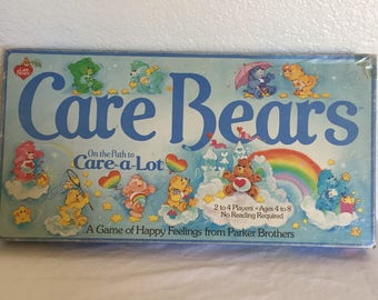 Vintage 1983 Parker Brothers Care Bears On the Path to Care-A-Lot game