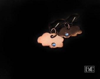 Cloud earrings copper