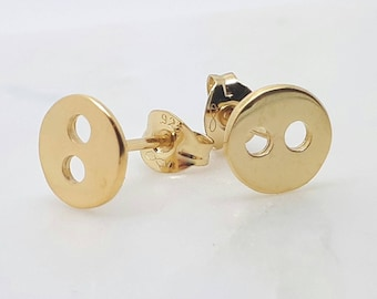 Dainty Gold Studs, Gold Button Earrings, Button Posts, Gold Coin Earrings, Everyday Earrings, Best Friend Gift, Small Round Studs,
