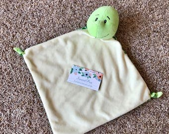 Turtle Blankie - Personalized Embroidered - Cubbies - Embroidery - Stuffy - Baby - Gift - Stuffed Animal