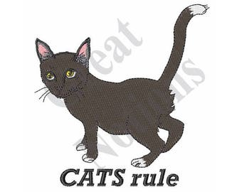 Cats Rule - Machine Embroidery Design