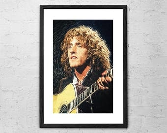 Roger Daltrey - The Who - Illustration - The Who Band Print - The Who Print - The Who Poster - Rock Poster - Classic Rock - Rock and Roll