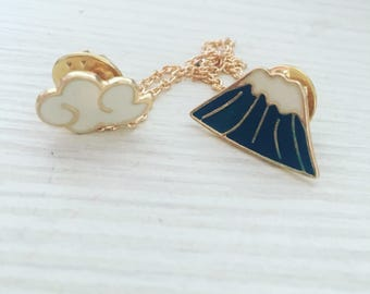 Mountain & Cloud Pin Badge