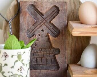 Hand carved wooden Folk Art mould