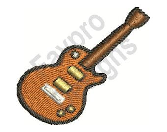 Electric Guitar - Machine Embroidery Design