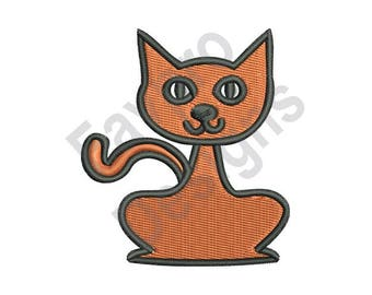 Kitty Cat - Machine Embroidery Design
