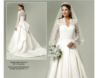 Butterick B5731 / BP249 Princess Kate Wedding Dress Bridal Sewing Pattern UNCUT Size 6, 8, 10, 12, 14