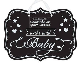 Baby Count Down Chalk Board - how many weeks to go! Baby Shower