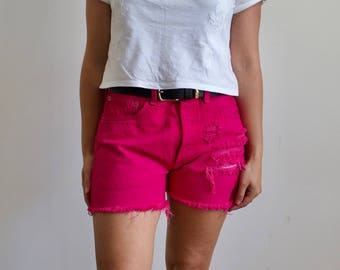 Hot Pink 90's Vintage Denim Levi's Shorts