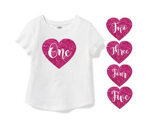 YOU CHOOSE! 1st 2nd 3rd 4th 5th Birthday Shirt Girls Gold Silver Hot Pink Glitter Cake Smash Photo Prop Rose Gold Gold Foil