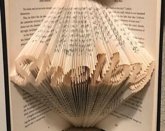 Folded Book Art Custom Name Gift