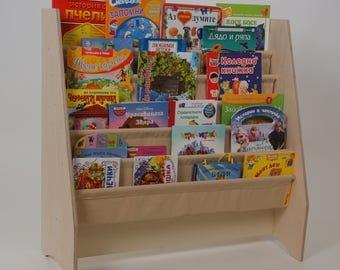 Book Sling / Wooden Bookcase / Book Storage / Bookshelves / Kids Book  Booksling / Book