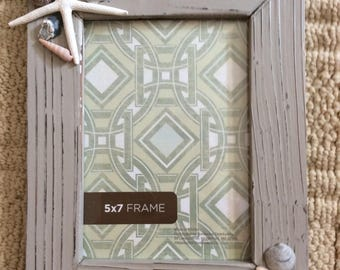 Shell embellished picture frames