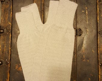 Vintage Leg Warmers, 1980's Gray Knit Leg Warmers