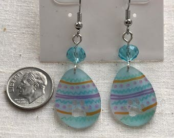 Easter Eggs and Paw Print Earrings