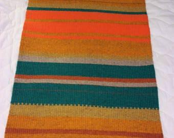 Vintage wool Raanu - handmade - wall hanger or tablecloth