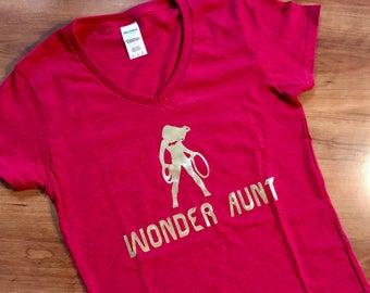 Wonder Aunt, Wonder Mom Shirt- Wonder Woman