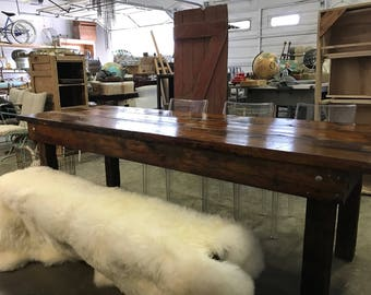 Reclaimed Rustic Cedar Table