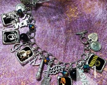 Nirvana Kurt Cobain charm  Bracelet necklace
