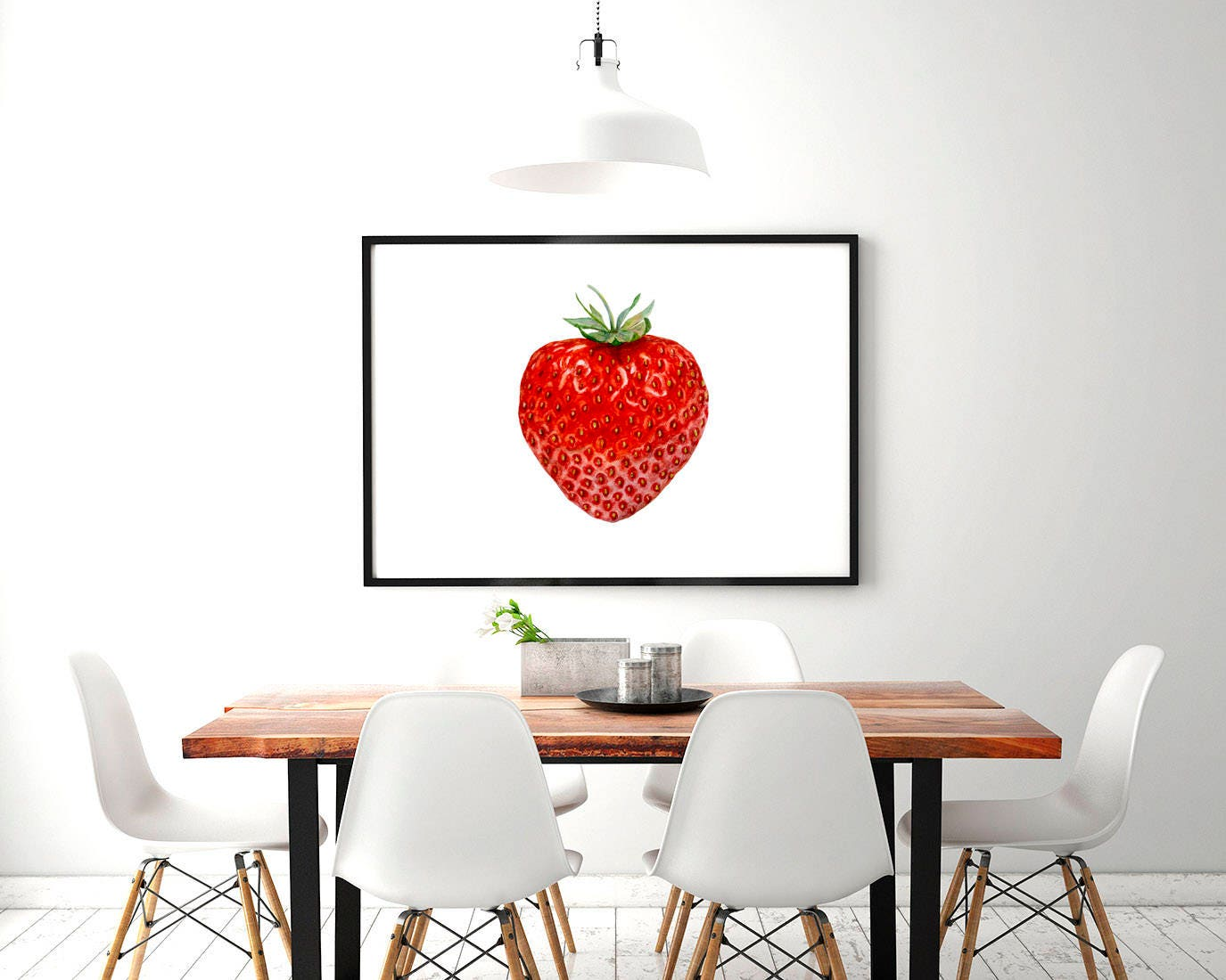 Strawberry watercolor digital clipart for instant - Strawberry kitchen decorations ...
