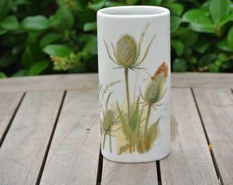 Vintage Enesco Japan Vase w/ Dandelions and Butterfly Design
