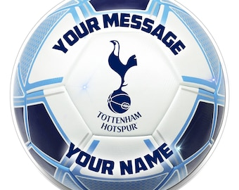 FC TOTTENHAM Inspired  Personalised Party Cake Topper Edible print on icing 7.5""