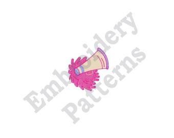 Megaphone And Pompom - Machine Embroidery Design