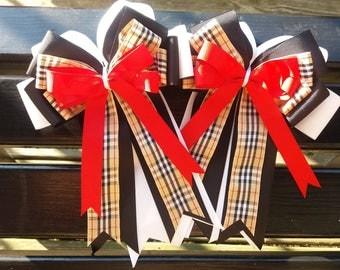 New handmade Burberry plaid inspired show bows