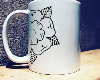 10oz Yorkshire Rose Mug, Notherner gift