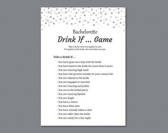 Bachelorette Drink If Game, Gray Dots Drinking Game, Bachelorette Games, Bridal Shower, Wedding Shower, Hen Party Game, Take a Sip, A020