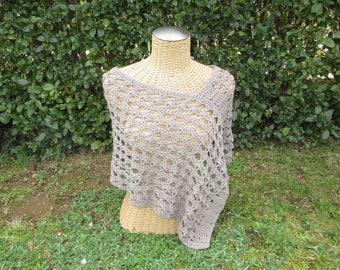 Handmade crochet poncho summer women