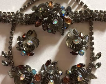 EDLEE* Stunning Very Rare Necklace, Bracelet & Earrings Demi Parure