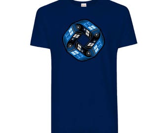 Doctor Who Police Box Tardis Infinity - Tee (Size - XXL, Main Colour - Royal Blue)