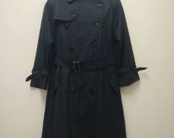 Vintage BURBERRYS Trench Coat Classic Prorsum Trenchcoat Made in England