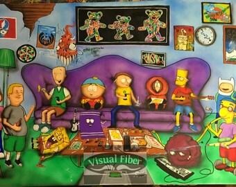 Cartoon party mixup