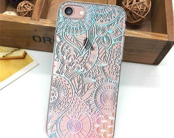 iPhone 7 Plus case clear iPhone case iPhone 8 case iPhone 7 case mandala iPhone 6s case iPhone SE, 5s colorful iPhone case iPhone 6Plus cute