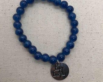 beaded bracelet, bracelet, bracelets, blue bracelet, charm bracelet, handmade,jewelry